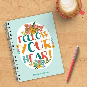 Heart Floral Planner