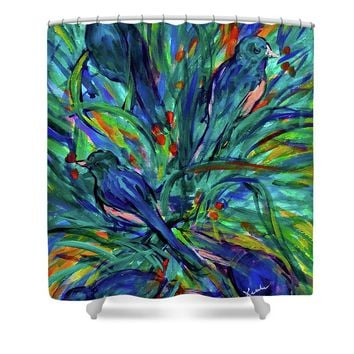 Berry Search Shower Curtain