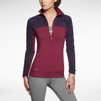 Nike Pro Hyperwarm Fitted Max Shield Half-Zip Women's Training Top - Raspberry Red
