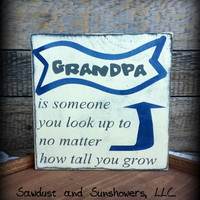 Custom Sign For Grandpa, Sign for Grandpa, Sign for Papa, Rustic Wooden Sign, Handmade Sign, Rustic Home Decor,Gifts Under 20,Primitive Sign