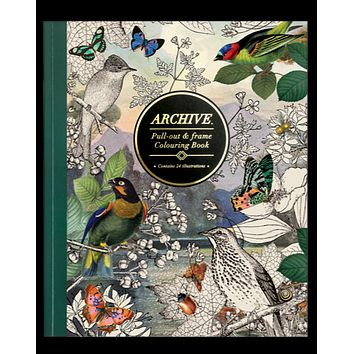 Archive Nature-Inspired Luxe Coloring Book | Pull Out and Frame Your Work | High Quality Ivory Cardstock