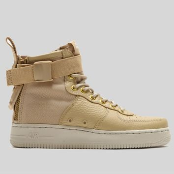 AUGUAU Nike Wmns SF AF1 MID Vast Grey Vast Grey Gum Light Brown