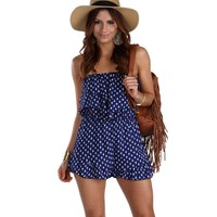 Sale-blue Trailin Ruffle Romper