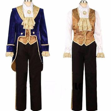 Cosplay Adult Costumes Prince Adam Cosplay Clothes Adam Men Halloween Party Clothes Suits