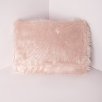 Missguided - Faux Fur Clutch Pink