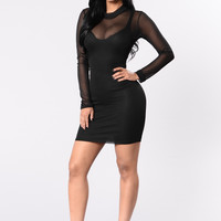 Mesh It Up Dress - Black