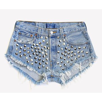 Wunderlust Studded Vintage Shorts - One Of a Kind