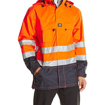 Helly Hansen Workwear Potsdam High Visibility Jacket, En471 Orange/Navy, 2XL