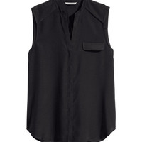 Sleeveless Chiffon Blouse - from H&M