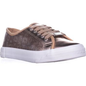 Bebe Sport Dane Lace Up Fashion Sneakers, Rose Gold, 8.5 US