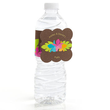 Luau - Personalized Everyday Party Water Bottle Label Favors
