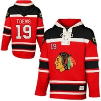 Old Time Hockey Jonathan Toews Chicago Blackhawks Sawyer Current Player Hoodie - Red/Black