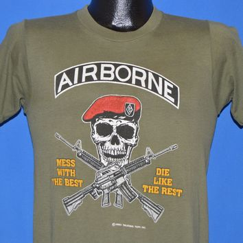 80s 82nd Airborne Mess With The Best t-shirt Small