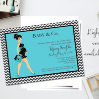 Baby and Co baby shower/ Baby Co Shower Invitation/ Chic baby shower invitation/ Turquoise baby shower/ Chic mom invite/Trendy mama to be - Edit Listing - Etsy