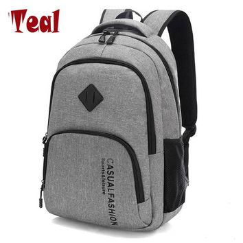 2018 New Fashion Men's Backpack Bag Male Canvas Laptop Backpack Computer Bag high school student college student bag male