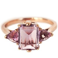 Anna Sheffield Rose Gold Amethyst Bea Ring