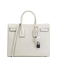 Saint Laurent Sac de Jour Small Satchel Bag, White/Black
