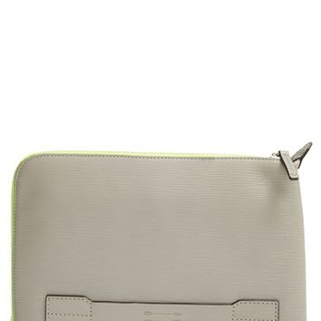Men's Ben Minkoff 'Warren' Embossed Leather Pouch