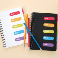 Colorful Mini Index Notebook