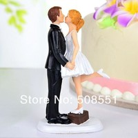DCCKIX3 A Kiss And We're Off' Wedding Cake Toppers bride and groom,cupcake topper = 1930122948