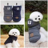 High Quality New Winter Dog Clothing Gray Pet Apparel Modern Stylish Dog Coat Jacket Cotton-padded Clothes for Dogs Pet Product