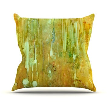 "Rosie Brown ""Rock City"" Yellow Painting Throw Pillow"