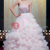 Charming Ball Gown Strapless Floor-length Yana's Ball Gown Dress Inspired by Taylor Swift
