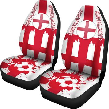 2018 FIFA World Cup England Car Seat Covers 2pcs