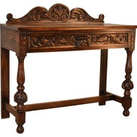 19th-C. Carved English Console Table