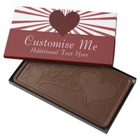 Burst Of Love (Red) Milk Chocolate Bar