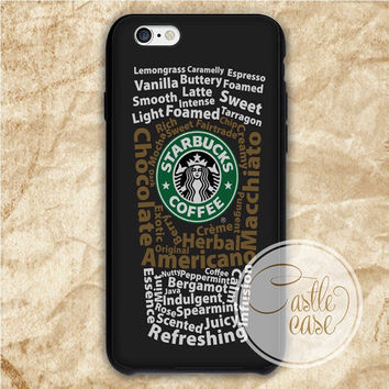 Starbucks Typography Logo iPhone 4/4S, 5/5S, 5C Series Hard Plastic Case