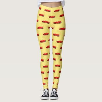 Retro car Leggings