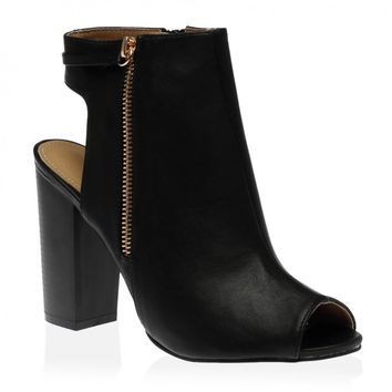 Priscilla Heeled Boots in Black