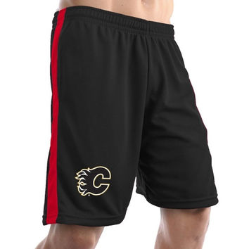 Calgary Flames Air Mesh Shorts - Black