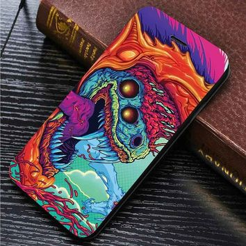 CS GO Hyper Beast custom wallet case for iphone 4,4s,5,5s,5c,6,6 plus,7 and samsung galaxy s3,s4,s5,s6,s7
