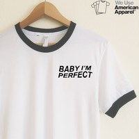 AA Baby I'm Perfect One Direction Ringer Tee