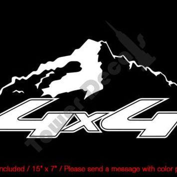 4X4 OFFROAD MOUNTAIN VINYL DECAL (1) FITS: CHEVY GMC DODGE FORD NISSAN TOYOTA