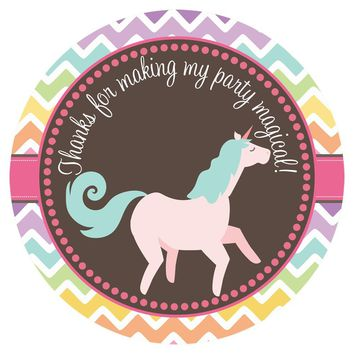 Unicorn Thank You Sticker Labels - Set of 30