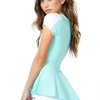 Soften Up Contrast Peplum