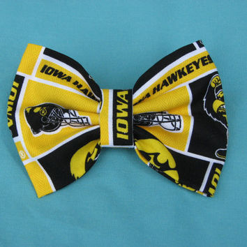 University of Iowa Hawkeye Bow by annalisefaith on Etsy