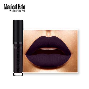 Best Deal New Fashion Sexy Gothic Dark Purple Matte Liquid Lipstick Long Lasting Lip Gloss Lipstick Waterproof Lip Gloss 1pc