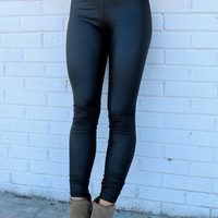 Can't Get Enough Black Liquid Leggings