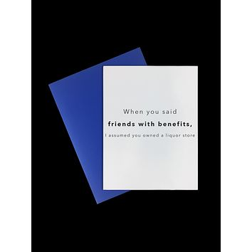 Card-  Friends With Benefits