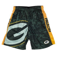Green Bay Packers Official NFL Big Logo Camo Shorts