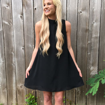 Lexi Dress in Black Crisp