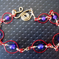 Colourful Amethyst Bead & Wire Wrapped by ArianrhodWolfchild