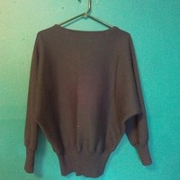 80s batwing sweater
