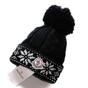 moncler new style 4 cable knit beanie