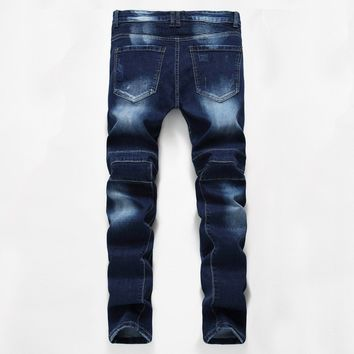 Winter Slim Blue Jeans [1563339325533]