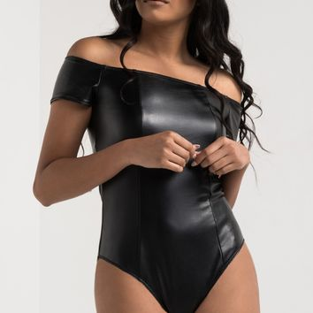 ON THE RUN PLEATHER BODYSUIT - What's New
